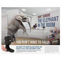 Fall Prevention - Elephant poster
